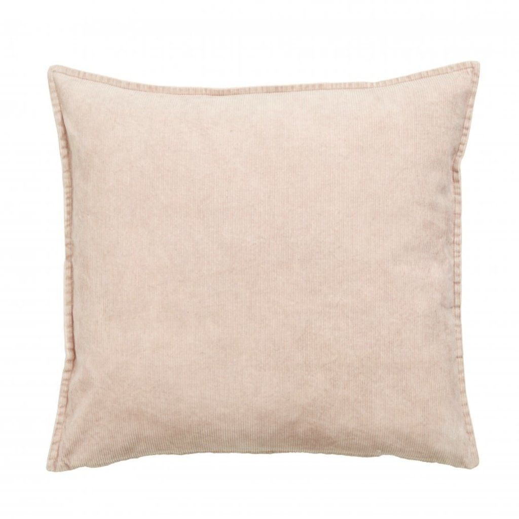 Nordal Cushion cover, light pink, corduroy 48 x 48 cm