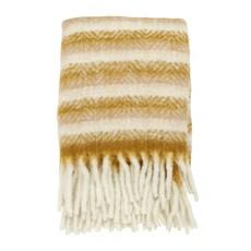 Nordal Blanket, mustard/off white, mohair look