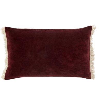 Nordal Nordal - Cushion cover w/fringes, burgundy - Kussenhoes met franjes - Burgundy - 40x65