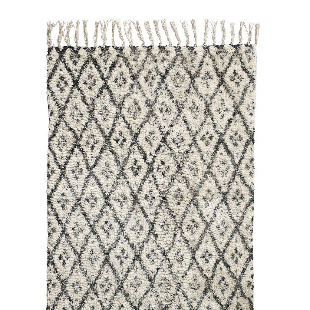 Nordal Vloerkleed Vik wit/zwart 200 x 250