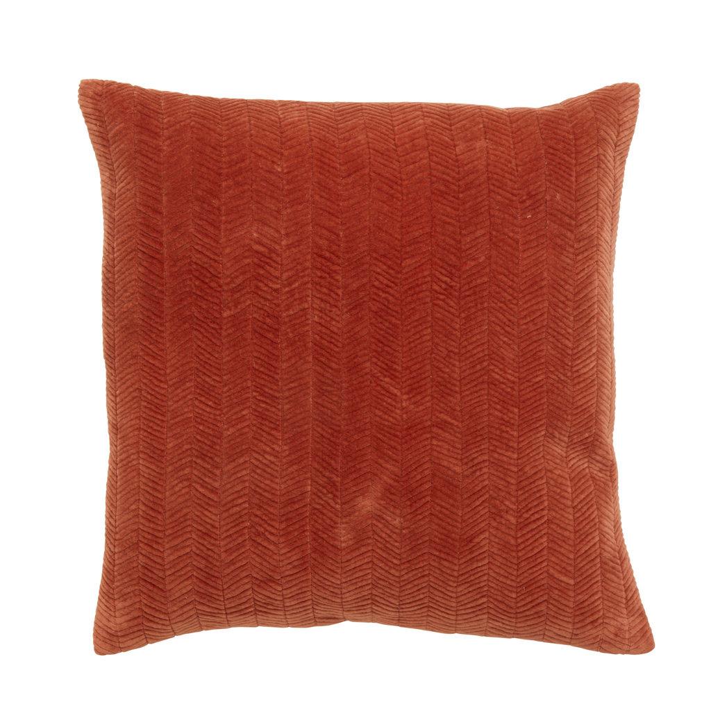 Nordal Nordal - Cushion cover fine lines rust velvet 48x48 (incl. Vulling)