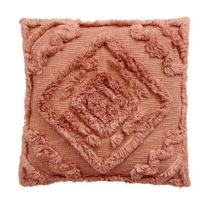 Nordal Sierkussen Shaggy terracotta 48 x 48