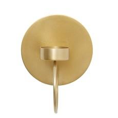 Nordal Circle wall t-light holder brass