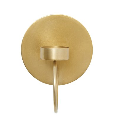 Nordal Circle wall t-light holder brass kaarshouder