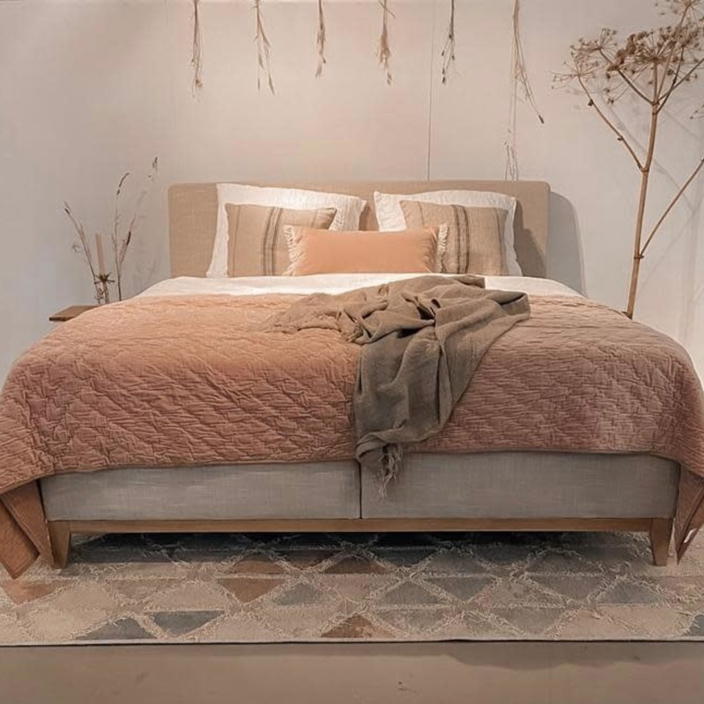 Maurits Boxspring Oak - Motto Beige