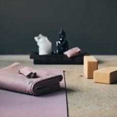 Nordal YOGA cotton blanket, rose