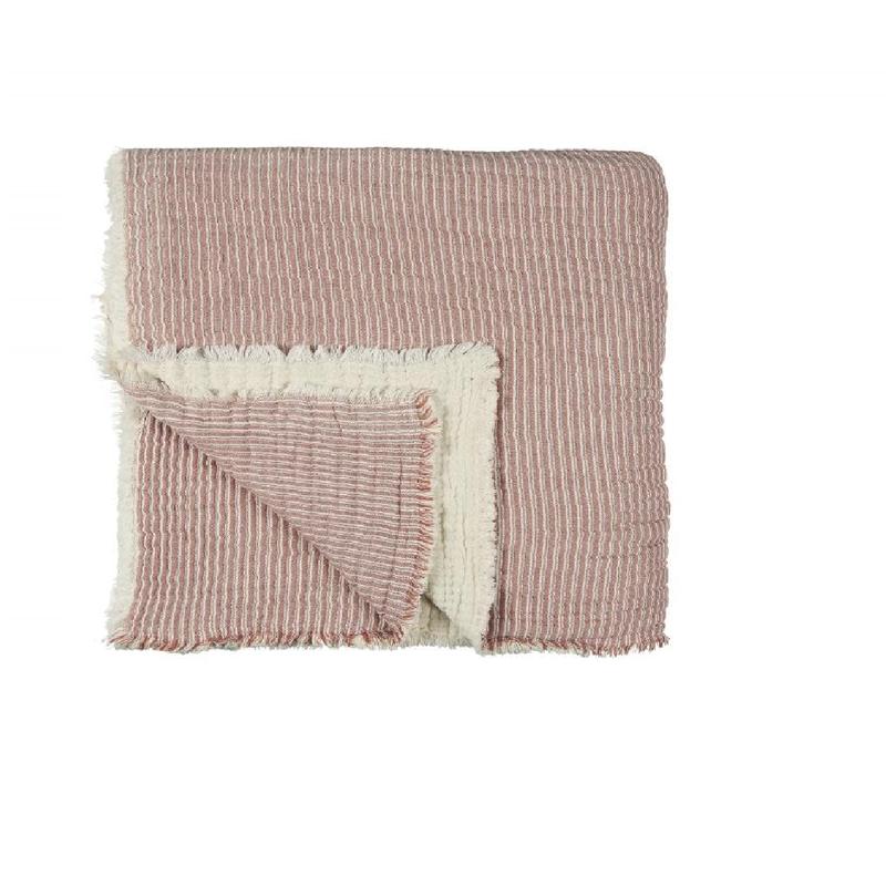 Maurits Plaid Sandon roze 240 x 240
