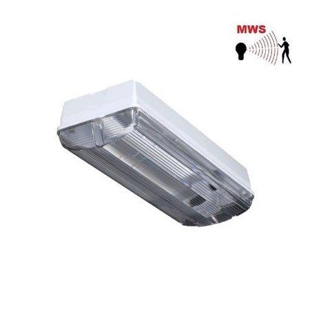 4MLUX Titan LED Base-line 2,5-9,5W, laag 190/hoog 890 lumen, met bewegingssensor on/off of on/DIM(corridor-functie) ,3000K, licht-grijs/helder