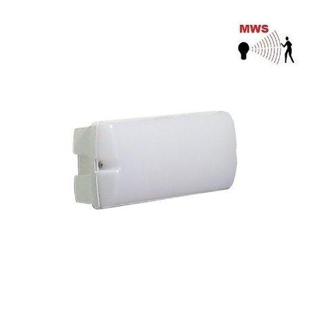 4MLUX Rhea LED Base-line 2,5-9,5W, laag 155/hoog 745 lumen, met bewegingssensor on/off of on/DIM(corridor-functie), 3000K, wit/opaal
