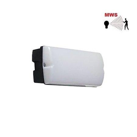 4MLUX Rhea LED Base-line 2,5-9,5W, laag 155/hoog 745 lumen, met bewegingssensor on/off of on/DIM(corridor-functie),  4000K, zwart/opaal