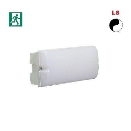 4MLUX Rhea LED Base-line 4W, 395 lumen, met nood (165 lumen, 2W), met lichtsensor, 4000K, wit/opaal