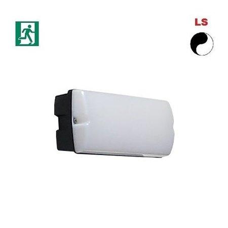 4MLUX Rhea LED Base-line 4W, 395 lumen, met nood (165 lumen, 2W), met lichtsensor, 3000K, zwart/opaal