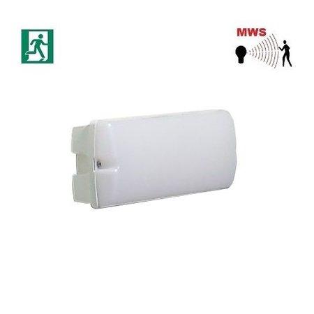 4MLUX Rhea LED Base-line 2,5-9,5W, laag 155/hoog 745 lumen, met nood (165 lumen, 2W), met bewegingssensor on/off of on/DIM(corridor-functie), 2700K, wit/opaal