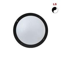 Lucia 6W, 380 lumen, met lichtsensor, 4000K, zwart/opaal