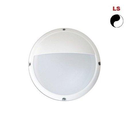 4MLUX Lucia-E 6W, 330 lumen, met lichtsensor, 4000K, wit/opaal, met half vizier