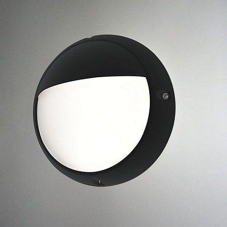 4MLUX Lucia-E 6W, 330 lumen, met lichtsensor, 4000K, zwart/opaal, half vizier