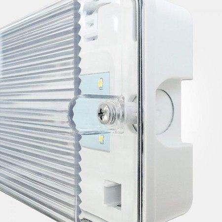 4MLUX Zena Pro 3W, nood/continu of schakelbaar of alleen nood, 150/100 lumen, IP65, lichtgrijs/helder