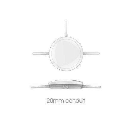 EM-Kosnic Ossa LED DD met witte rand, IP65 met LED PLQ 9/12/18 W Multi-wattage en 3000/4000/5000K Multi-kleur instelbare LED lichtbron, incl. Nood