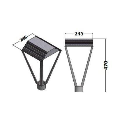 EM-Eulux Cruet LED 30W, 4800 lumen in 3000, 4000 of 2200K(Amber), 5000K en Groen op aanvraag