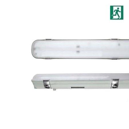 EM-Kosnic Avon LED 2x1200mm, 30W, met nood (Autotest), 3840 lumen, 4000K, met RVS clipsen
