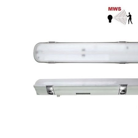 EM-Kosnic Avon LED 2x1200mm, 30W, met bewegingssensor on/off, 3840 lumen, 4000K, met RVS clipsen