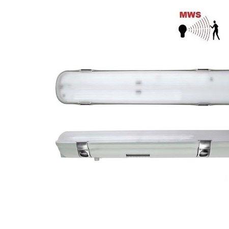 EM-Kosnic Avon LED 1x1500mm, 30W, met bewegingssensor on/off, 3840 lumen, 4000K, met RVS clipsen