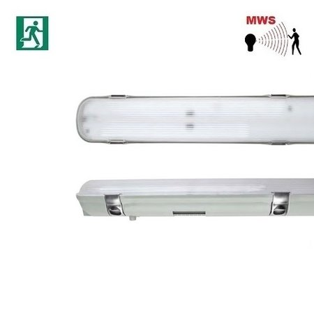EM-Kosnic Avon LED 1x1500mm, 30W, met bewegingssensor on/off, met nood (Autotest), 3840 lumen, 4000K, met RVS clipsen