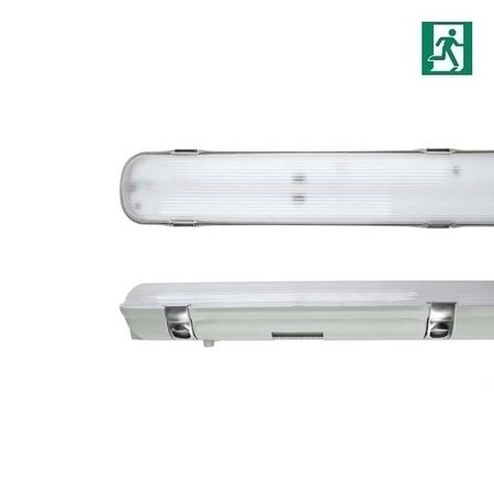 EM-Kosnic Avon LED 2x1500mm, 50W, met nood, 6630 lumen, 4000K, met RVS clipsen