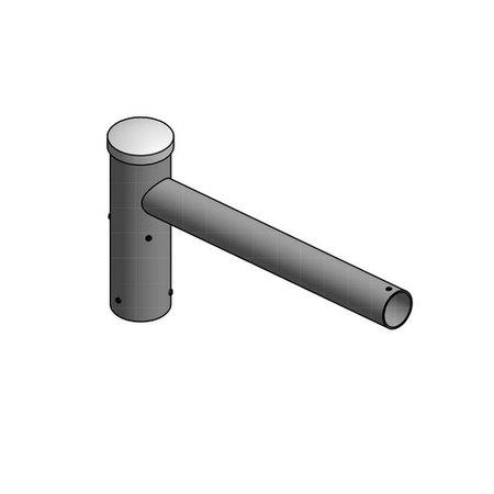 4MLUX Enkele uithouder, voor mast 60/76mm, lengte uithouder 500mm, topmaat 60 mm