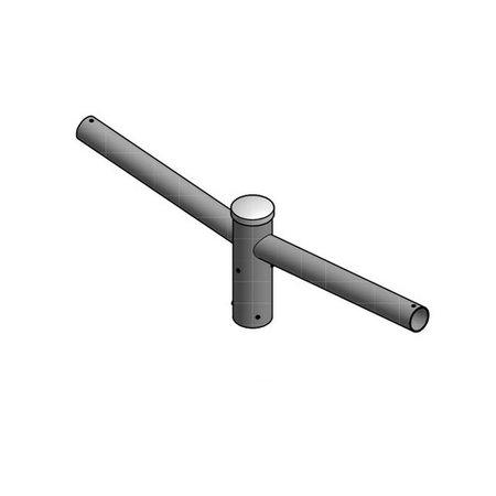 4MLUX Dubbele uithouder, voor mast 60/76mm, lengte uithouders 500mm, topmaat 60 mm