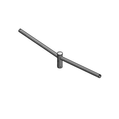 4MLUX Dubbele uithouder, voor mast 60/76mm, lengte uithouders 1000mm, topmaat 60 mm