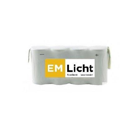 4MLUX Batterij 4,8V-0,6Ah, side by side, AAA cel, NiMH, afmetingen: L 42 x H 44,5, met faston (Bijpassende dradenset of dradenset met connector dienen los erbij besteld te worden)
