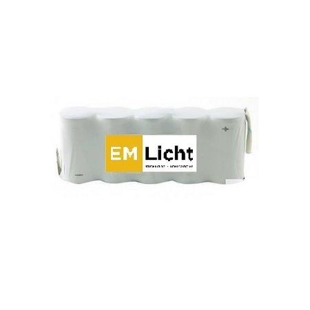 4MLUX Batterij 6V-1,3Ah, side by side, AA cel, NiMH, afmetingen: L 65 x H 50mm, met faston (Bijpassende dradenset of dradenset met connector dienen los erbij besteld te worden)