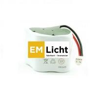 Batterij 4,8V-2,4Ah, RUIT,  NiMH, afmetingen: Ø 22 x H 200 t.b.v. van Lien Serenga  incl. connector