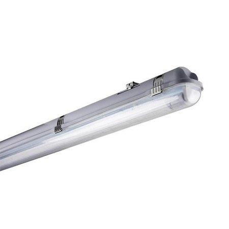 EM-Kosnic Indus LED buis serie, 2 x 1200 mm met nood (100 lumen) incl. 2 x LED buis 18W 4000K 1200 mm 2600 lumen, 50.000h