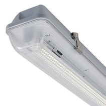 Cletus IP65 12W, 24-42VAC/DC LED verlichting, 3000K met heldere lichtkap