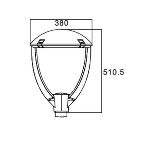 4MLUX Arden Base-line LED 40W, 4700 lumen in 3000 of 4000K