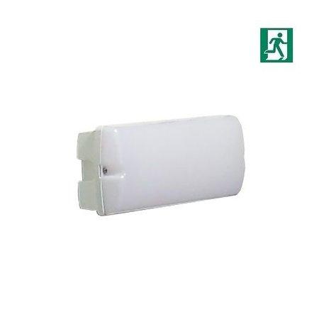 4MLUX Rhea LED Base-line 8W, 800 lumen, met nood (165 lumen, 2W), 3000K, wit/opaal