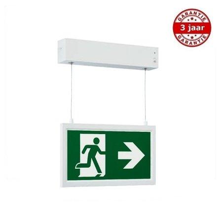 4MLUX Alepo LED wit, nood/continu of schakelbaar of alleen nood, 40/35 lumen, IP20, incl. picto folieset