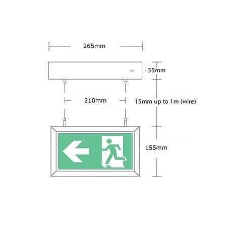 4MLUX Alepo LED wit AT, nood/continu of schakelbaar of alleen nood met Autotest, 40/35 lumen, IP20, incl. picto folieset