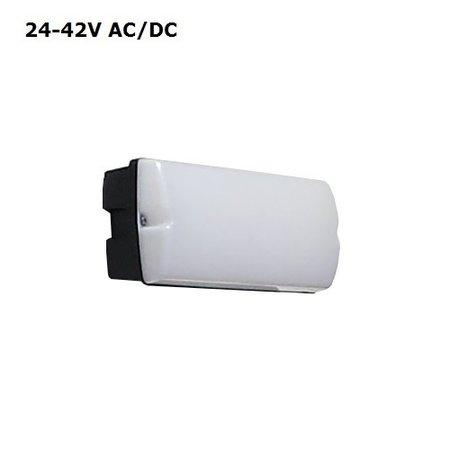 4MLUX Rhea LED Base-line 4W, 24V of 42V AC/DC, 390 lumen, 3000K, zwart/opaal