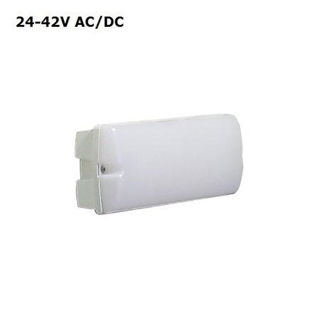 4MLUX Rhea LED Base-line 8W, 24V of 42V AC/DC, 780 lumen, 3000K, wit/opaal