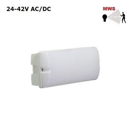 4MLUX Rhea LED Base-line 5W, 24V/42V AC/DC, 390 lumen, met bewegingssensor on/off, 4000K, wit/opaal