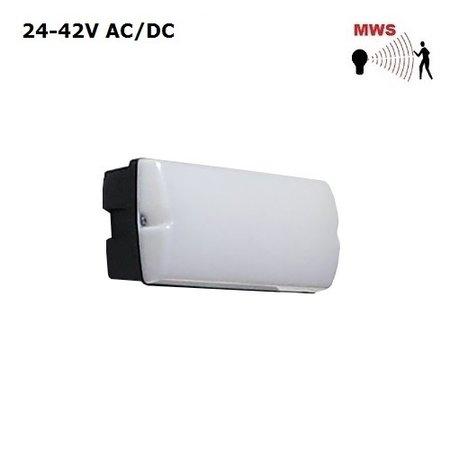 4MLUX Rhea LED Base-line 9W, 24V/42V AC/DC, 780 lumen, met bewegingssensor on/off, 3000K, zwart/opaal