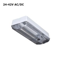 Titan LED Base-line 8W, 24V/42V AC/DC, 960 lumen, 4000K, lichtgrijs/helder