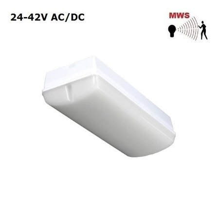 4MLUX Titan LED Base-line 5W, 24V of 42V AC/DC, 410 lumen, met bewegingssensor on/off, 3000K, lichtgrijs/opaal