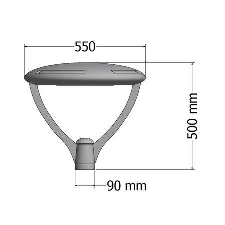 EM-Eulux Scudo-TES LED 60W, 9600 lumen in 3000, 4000 of 2200K(Amber), 5000K en Groen op aanvraag