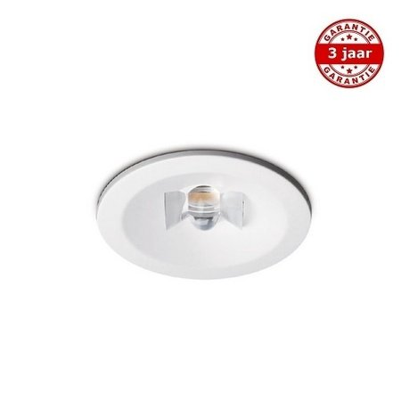 EM-Kosnic Nitro ER wit 2,3W, inbouw, alleen nood, 200 lumen, IP20