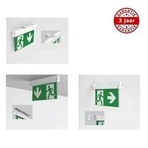 Doxa 3 in 1 wand/plafond, nood/continu of schakelbaar of alleen nood, 50/30 lumen, IP20, incl. 1 picto naar keuze
