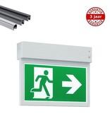 4MLUX Aleka LED wit, spanningsrail noodverlichting, nood/continu of schakelbaar of alleen nood, 40/35 lumen, IP20, incl. picto folieset